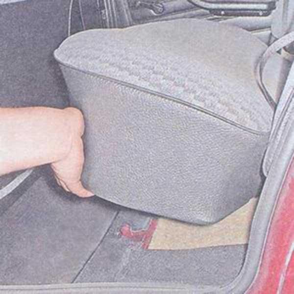 как убирается заднее сиденье у renault symbol