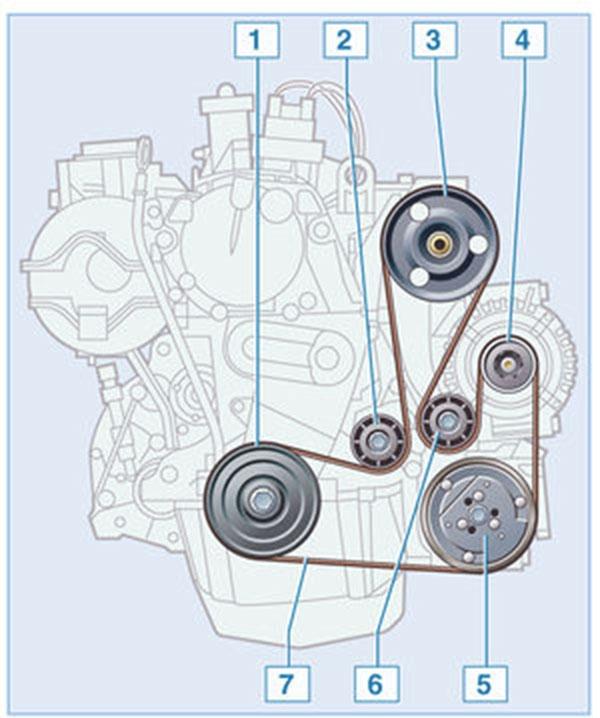 Схема ремня генератора