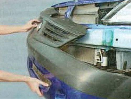Замена бампера на рено логан